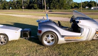 2009 Thoroughbred Motorsports Stallion Motor Trike and 1995 Bushtech Trailer