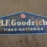 Double Sided Tin BF Goodrich Sign, 60