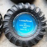 (6) Tire Ashtray Collection: Firestone, Goodyear, Hood Rubber Co., Dominion (#39)