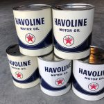 (5) Texaco Havoline  Motor Oil 10WHD 1-Gal. Cans (#39)