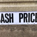 CASH PRICE sign (#45)