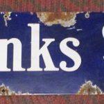Porcelain Fairbanks Morse Scales Sign 44 x 9 (#22)