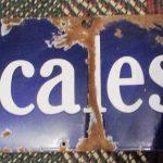 Porcelain Fairbanks Morse Scales Sign, 44x9  (#22)