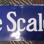 Porcelain Fairbanks Morse Scales Sign, 50 x 9(#22)