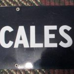 Porcelain Fairbanks Morse Scales Sign, 50 x 9  (#22)