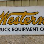 Western Truck Equipment Sign - Lot 21